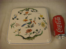 GIEN OISEAU DE PARADIS CAKE PLATE PLATTER CHINA BIRD OF PARADISE FRANCE SERVING