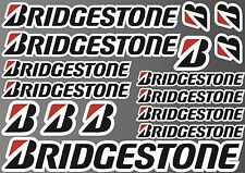 14x BRIDGESTONE STICKER SHEET DECALS STICKERS VINYL SPONSOR KIT BIKE MOTORCYCLE