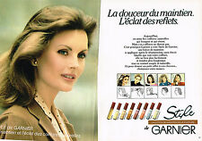 PUBLICITE ADVERTISING 035  1984  GARNIER STYLE  lotion coiffage REFLETS ( 2 p)