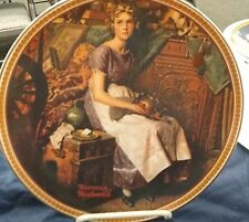 Norman Rockwell's Rediscovered Women Collector Plate of Dreaming in the Attic