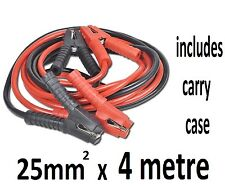 12ft  25mm2 HEAVY DUTY BATTERY JUMP LEADS BOOSTER CABLES CAR VAN PICK-UP 4x4