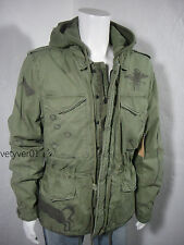 NWT RALPH LAUREN D&S Hooded Military Field Jacket Army Green size M