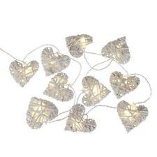 Guirlande lumineuse à Led 10 Coeur  en Osier  à Piles   Décoration Mariage Table