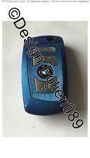 BLU spazzolato lucentezza Pellicola CHIAVE BMW F-Serie f01 f02 f10 f11 f12 f13 f25 M