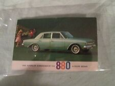 1963 Rambler Ambassador V-8 880 4-Door Sedan Postcard
