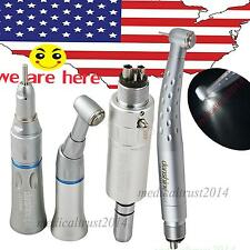 dental handpiece 1SET push 4 hole triple 3 spray LED high speed + low speed kit