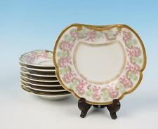 Set 8 UNUSUAL Bernardaud Limoges Dishes Bowl Sweetmeat D&Co Porcelain Gold Pink