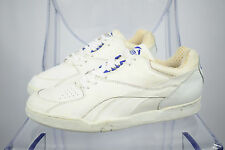Men's Vintage 80s/90s Puma White Purple Leather Trainers Size UK 12