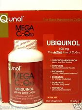 Qunol MEGA CoQ10 UBIQUINOL 100 mg, 120 Softgels