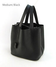 Women Genuine Leather Tote Bag Shopper Cabas Handbag Purse Shopping Hobo Basket