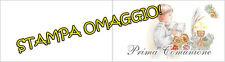 10 pz biglietti Bomboniere Prima Comunione maschio stampa omaggio
