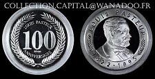 Médaille Louis Pasteur  BE Argent 100ème Anniversaire sous capsule