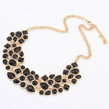 hot lady Korean Alloy Rhinestone Crystal Hot Collar Statement Necklaces gift
