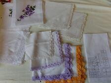 10 TAschentücher mit Stickerei  NEU