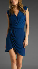 NWT~ Halston Heritage Blue Front Crossover Short Dress~8~