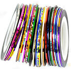 Colorful 20m Nail Art Tips Striping Tape Line Sticker Manicure DIY Kit New B52U