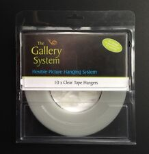 Clear Tape Droppers- The Gallery System - Picture Hanging System - GBLHANPCT