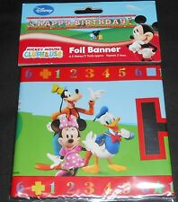 5 X 90cm De Mickey Mouse Club House Feliz Cumpleaños De Pared Banner Banners