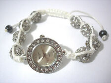Ashley Princess Bling Bling Shamballa Bracelet Women's Watch White Item 2897