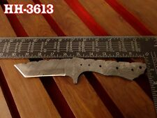 "10""Custom Made blank blade Damascus steel Tanto Hunting making HH-3613"