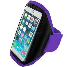 "iPhone 6 (4.7"") Purple Padded Arm Band Mobile Phone Holder for Running, Jogging"
