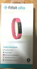 Brand New Fitbit Alta Gold Series with Pink Band, Size Small Fitness Wristband