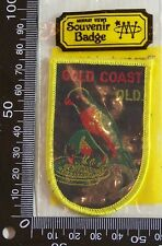 VINTAGE GOLD COAST NSW EMBROIDERED SOUVENIR PATCH WOVEN CLOTH SEW-ON BADGE