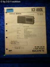 Sony Service Manual ICF 880L 4 Band Receiver (#2955)
