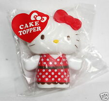 "SANRIO Hello Kitty Cake Topper 3"" inch Red Ribbon Cupcake Baking New Sealed"