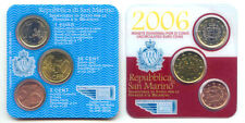 San Marino 2006 - (BU) Mini Kit De 3 Monedas De Euro 5c, 50 quater y 1 euro * Rara *
