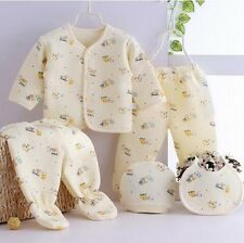 5 pcs cotton warm Newborn Baby Clothes Girls Boys Winter fall Outfits & Sets