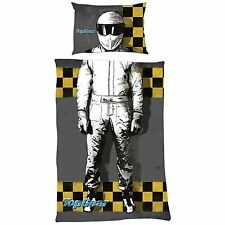 NEW TOP GEAR STIG DESIGN SINGLE DUVET QUILT COVER SET BOYS KIDS CARS BEDROOM BED