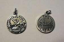 .925 Sterling Silver HOUSTON TX Texas  The Space City Travel Charm