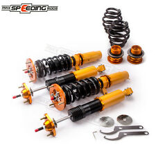 for BMW E46 Adjustable Coilover Suspension Kit + Top Mounts Camber Plate 98-05