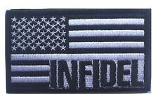 AMERICAN FLAG INFIDEL USA MILITARY TACTICAL US MORALE    PATCH   sh  509