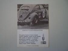 advertising Pubblicità 1967 CHAMPION e VOLKSWAGEN BEETLE MAGGIOLINO