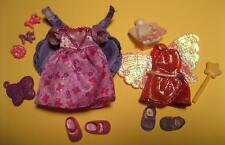 Barbie KELLY Doll Clothes~Princess Rapunzel Dress Cupid Wings Magic Wand Shoes