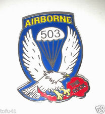 503RD AIRBORNE INFANTRY RGT. THE ROCK Military Veteran US ARMY Hat Pin P14712 EE