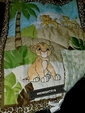 LION KING URBAN JUNGLE 3  PC CRIB BEDDING SET + SIMBA WALL DECOR.