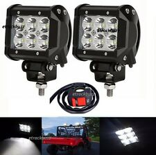 2x18W Cree 6 LED Light Bright Flood Lamp with switch for Bajaj Discover 125