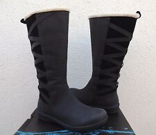 TEVA FIGUEROA BLACK WATERPROOF LEATHER FAUX FUR BOOTS, US 7.5/ EUR 38.5 ~ NIB