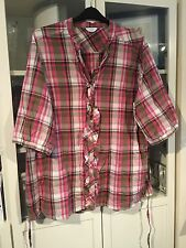 973 Being Casual Plus Sz 26 Pink Check Rodeo/Cowgirl 100%Cotton Shirt Top