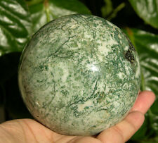 79 mm Huge Green Tree Agate Crystal Sphere Gemstone Ball from India