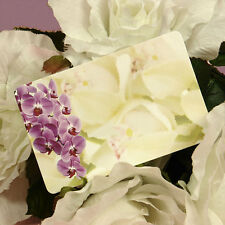 """50ct. """"Purple Orchids"""" Blank Florist Enclosure Cards Small Tags Notes"""