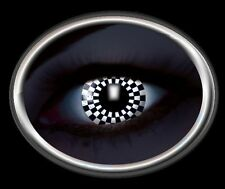 ZOE UV glow CHESS lentille de couleur lens white black noir contact halloween