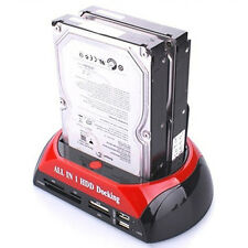IDE SATA Docking Station Clone USB HUB Reader External HDD Enclosure Popular