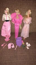 Vintage Mattel 1980s Barbie lot in original clothing with accessories