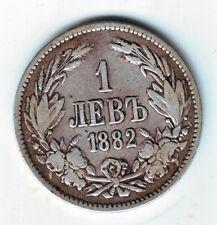 BULGARIA: 1 lev silver 1882 ALEXANDER I- 1 lev plata