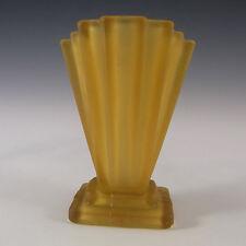 Bagley 1930's Art Deco Amber Glass 'Grantham' Vase #334 #2