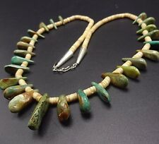 Vintage NAVAJO TURQUOISE & Shell Heish Beads NECKLACE Running Bear